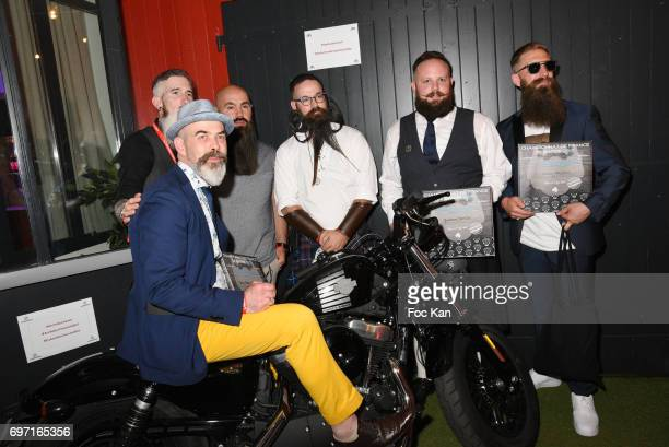 Less Than 20 cm Beard winner Vincent Tacquenir Best in Show Beard winner Denis Pierre Cariou Verdi Beard awarded Yoann Caton Audacious Beard Richard...