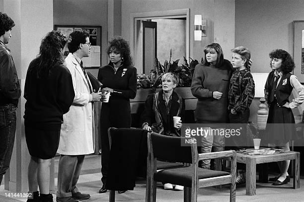LIFE Less Than Perfect Episode 18 Pictured Paul Provenza as Casey Clark Nancy McKeon as Joanna 'Jo' Marie Polniaczek Bonner Ron Fassler as Dr Nichols...