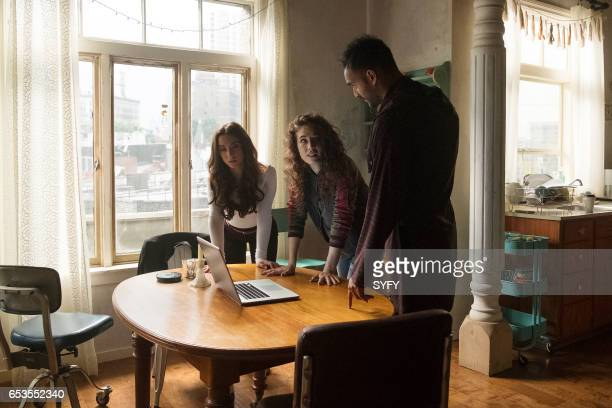 THE MAGICIANS Lesser Evils Episode 209 Pictured Stella Maeve as Julia Jade Tailor as Kady Arjun Gupta as Penny