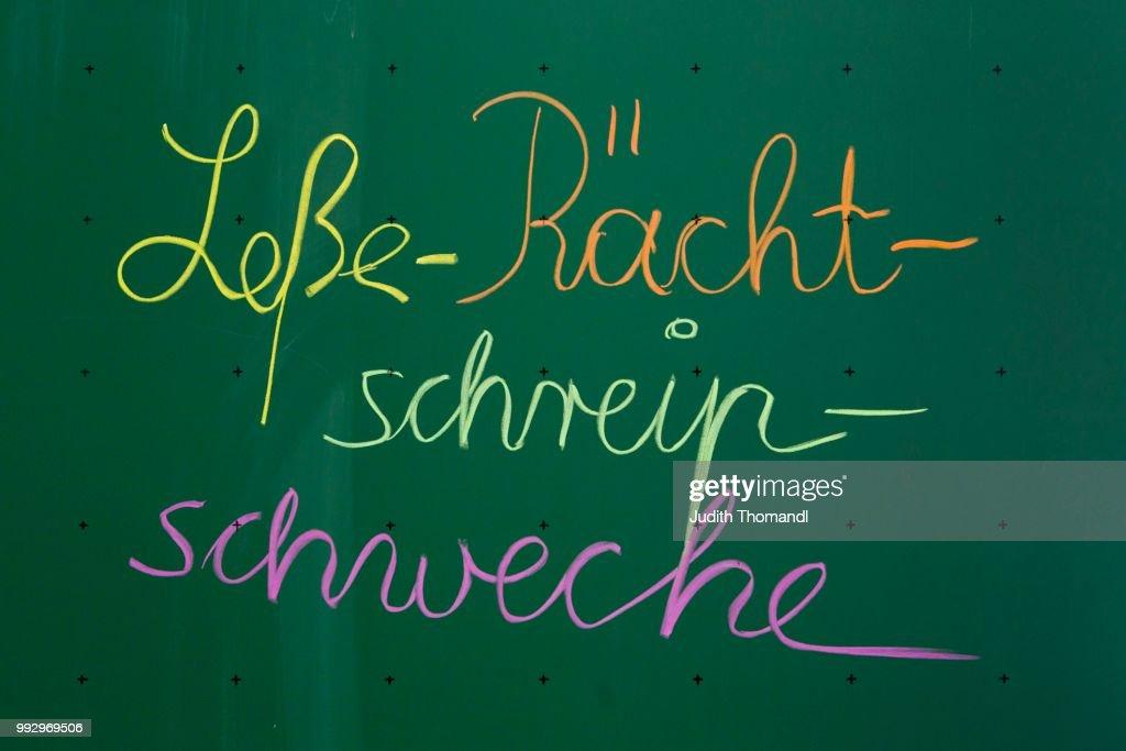 Lesse Raecht Schreip Schweche A Misspelling Of Lese Rechtschreib Schwaeche