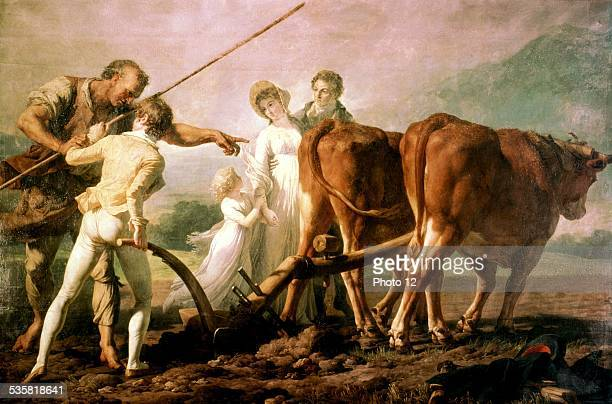 Lesson in Ploughing Illustration for 'Emile' by JeanJacques Rousseau France Bordeaux Musée des beauxarts