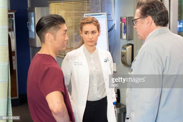 MED Lesson Learned Episode 218 Pictured Brian Tee as Ethan Choi Rachel DiPillo as Sarah Reese Oliver Platt as Daniel Charles