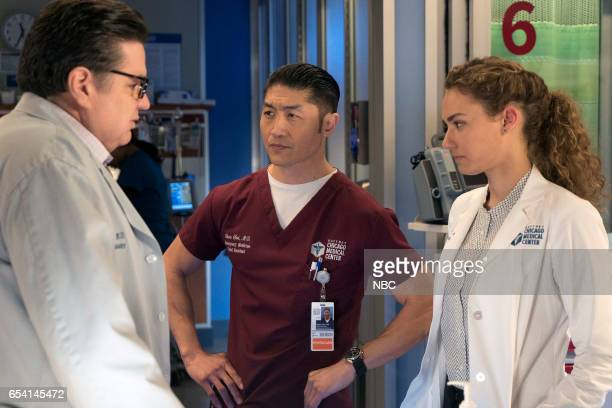MED Lesson Learned Episode 218 Pictured Oliver Platt as Daniel Charles Brian Tee as Ethan Choi Rachel DiPillo as Sarah Reese