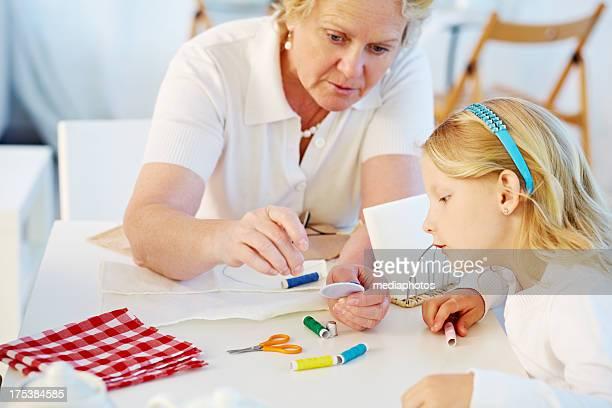 Unterricht von Kunsthandwerk von granny