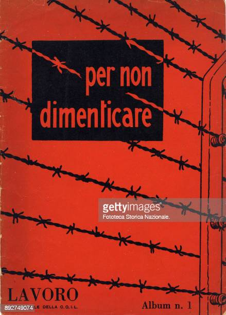 'Lest we forget' cover of the pamphlet created by Ando Gilardi attached to the Italian periodic 'Lavoro' It was the first time in Italy that images...