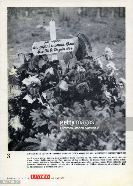 'Lest we forget' page 3 the tomb of an unknown French child Pamphlet created by Ando Gilardi attached to the Italian periodic 'Lavoro' It was the...