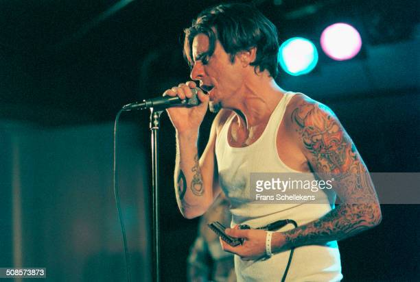 Lester Butler, vocal, performs with the Red Devils during Crossing Border Festival at the Congres gebouw in the Hague, Netherlands on 12 September...