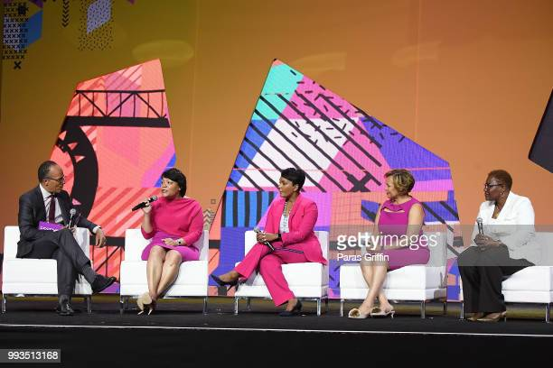 Lester Holt Mayor of New Orleans Louisiana LaToya Cantrell Mayor of Atlanta Keisha Lance Bottoms Mayor of Charlotte Vi Lyles and Mayor of Gary...