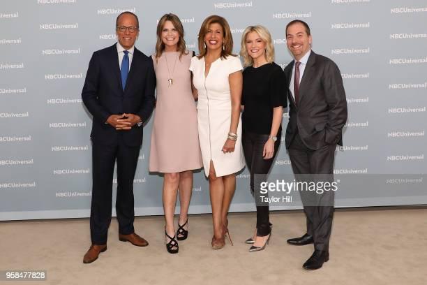 Lester Holt Savannah Guthrie Hoda Kotb Megyn Kelly and Chuck Todd attend the 2018 NBCUniversal Upfront Presentation at Rockefeller Center on May 14...