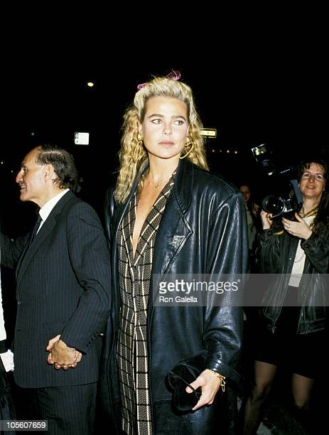 Lester Persky and Margaux Hemingway during Elaine's 25th Anniversary Party at Elaine's Restaurant in New York City, New York, United States.