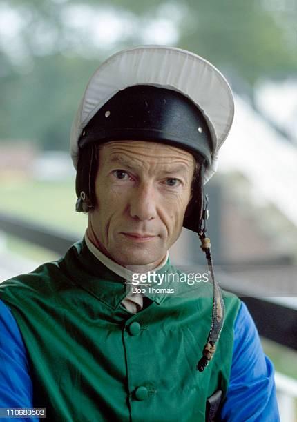 Lester Piggott flat race jockey at Newmarket April 1981