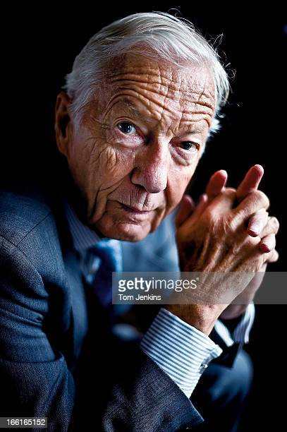 Lester Piggott the retired champion flat race jockey poses for a portrait at the Hilton Hotel Park Lane on May 18th 2011 in London An image from the...