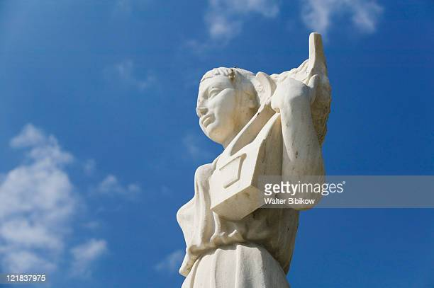 lesvos (mytilini), statue of poet sappho - poet stock pictures, royalty-free photos & images