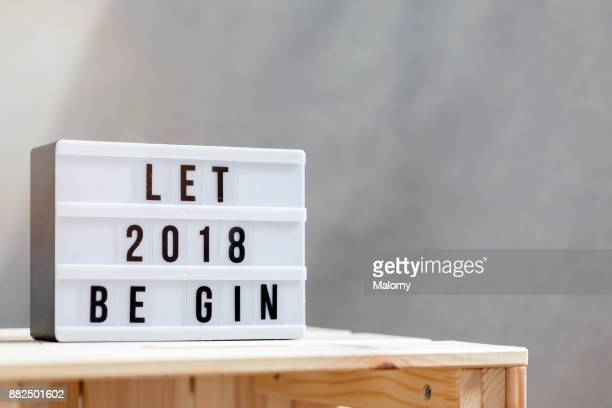 Let 2018 begin: Happy New Year Sign.