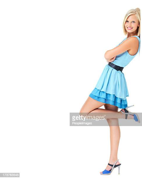 let her smile boost your brand - cut out dress stock pictures, royalty-free photos & images