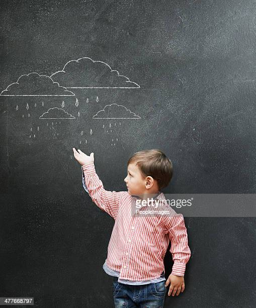 let me forecast a bright and sunny future for you - child prodigy stock pictures, royalty-free photos & images