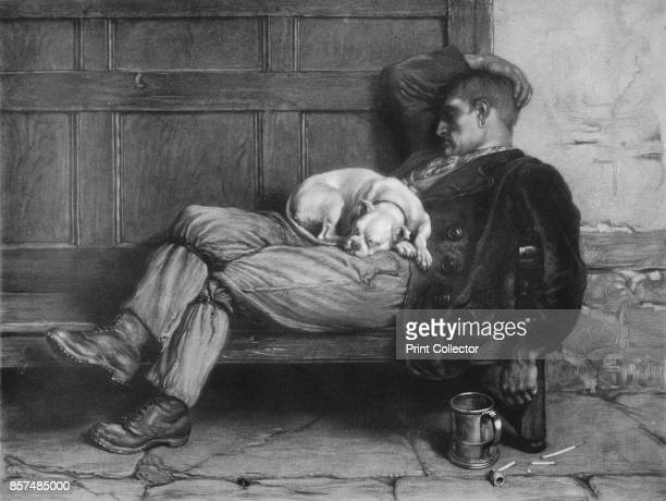 Let Sleeping Dogs Lie' From Bibby's Annual 1912 [J Bibby Sons Liverpool 1912] Artist Briton Riviere