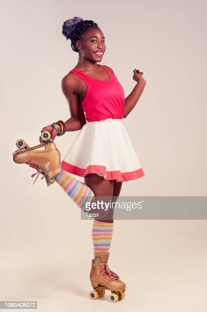 let the good times roll - roller skating stock pictures, royalty-free photos & images