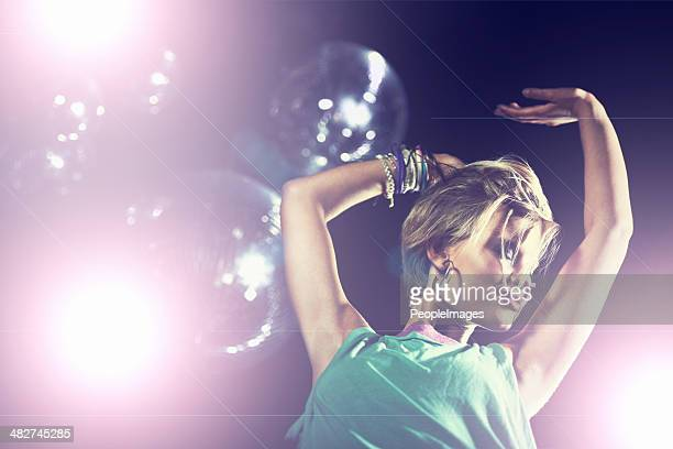 let the music take you away - disco ball stock photos and pictures