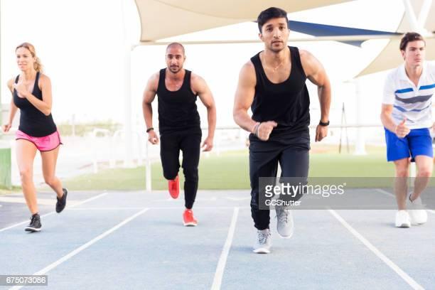 Let us run 100 meters as fitness challenge