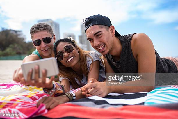Let us take a selfie at the beach