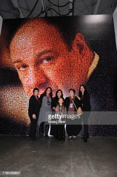 Leta Gandolfini Johanna Antonacci Deborah Lin Gandolfini and Liliana Ruth Gandolfini attend SopranosCon 2019 at Meadowlands Exposition Center on...