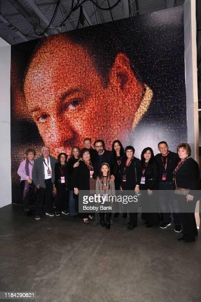 Leta Gandolfini Johanna Antonacci Deborah Lin Gandolfini Ray Abruzzo and Liliana Ruth Gandolfini attend SopranosCon 2019 at Meadowlands Exposition...