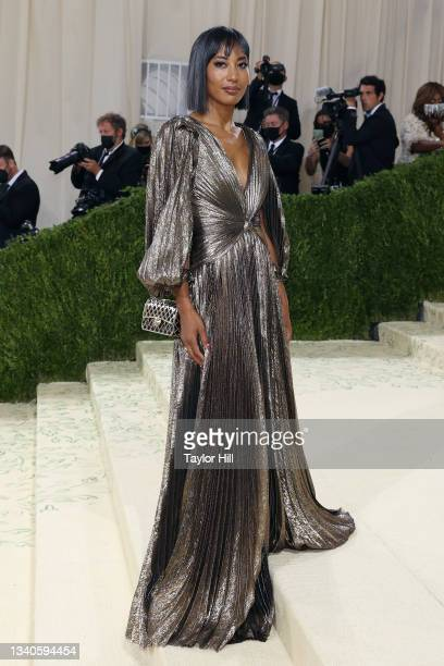 """Leta Shy attends the 2021 Met Gala benefit """"In America: A Lexicon of Fashion"""" at Metropolitan Museum of Art on September 13, 2021 in New York City."""