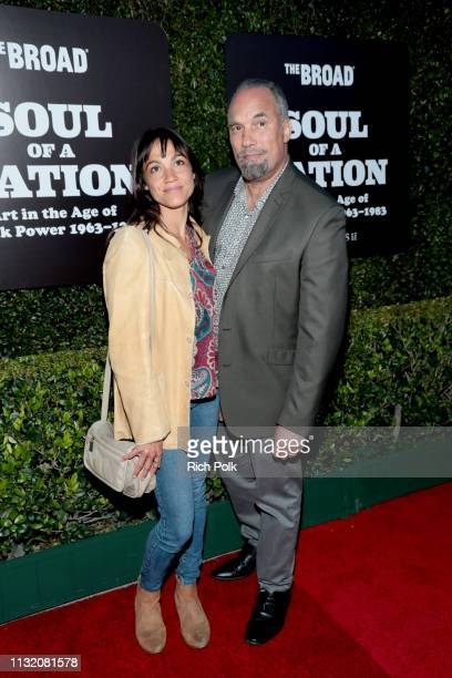 LeTania Kirkland and Roger Guenveur Smith attend The Broad Museum celebration for the opening of Soul Of A Nation Art in the Age of Black Power...