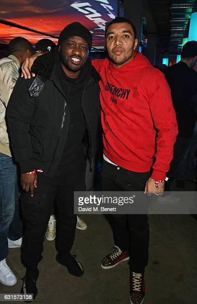 Lethal Bizzle and Troy Deeney attend the NBA Global Game London 2017 after party at The O2 Arena on January 12 2017 in London England