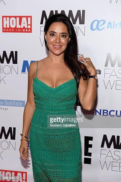 Leti Coo attends Antonio Banderas Miami Fashion Week Soiree at Vizcaya Museum Gardens on June 4 2016 in Miami Florida