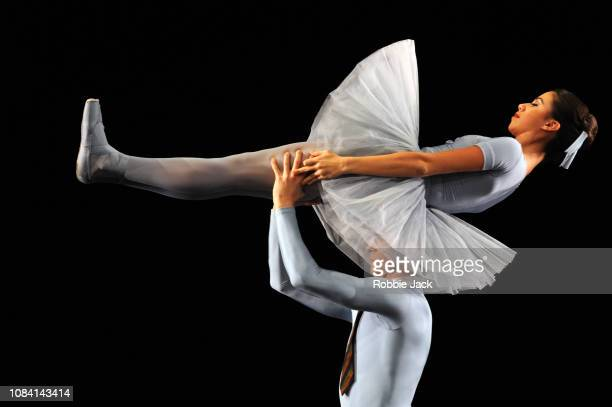 Leticia Dias and Leo Dixon in Jerome Robbins's The Concert at The Royal Opera House on December 17 2018 in London England