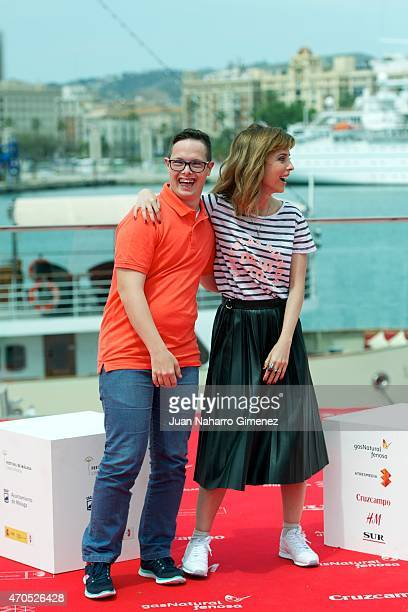 Leticia Dolera and Jordi Llodra attend the 'Requisitos Para Ser Una Persona Normal' photocall during the 18th Malaga Spanish Film Festival at Port on...