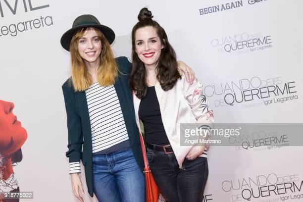Leticia Dolera and Nuria Gago attend 'Cuando Dejes De Quererme' Madrid Premiere on February 15 2018 in Madrid Spain