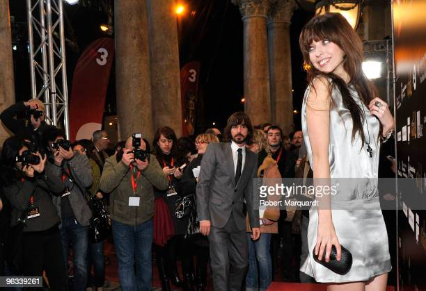 Leticia Dolera attends a photocall at the Premios de Gaudi held at the Theater Coliseum on February 1 2010 in Barcelona Spain