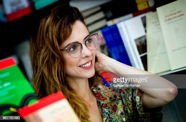 Leticia Dolera attends during the book fair in Madrid on May 26 2018 in Madrid Spain