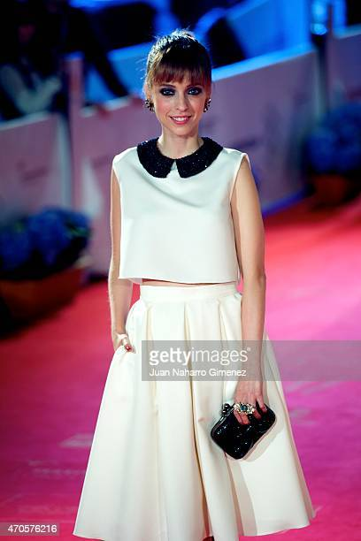 Leticia Dolera attends the 'Requisitos Para Ser Una Persona Normal' premiere during the 18th Malaga Spanish Film Festival at Cervantes Theater on...