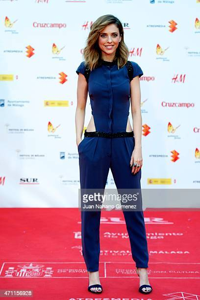 Leticia Dolera attends the 'Solo Quimica' premiere during the 18th Malaga Spanish Film Festival at the Cervantes Theater on April 25 2015 in Malaga...