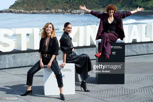 Leticia Dolera, Celia Freijeiro and Aixa Villagran attend 'Vida Perfecta ' photocall during 67th San Sebastian Film Festiva at Kursaal, San Sebastian...