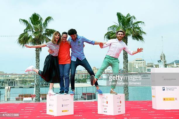 Leticia Dolera Jordi Llodra Miki Esparbe and Manuel Burque attend the 'Requisitos Para Ser Una Persona Normal' photocall during the 18th Malaga...