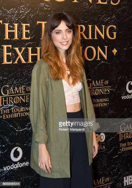 Leticia Dolera poses during a photocall for the 'Game of Thrones Touring Exhibition' inauguration at the Museu Maritim on October 26 2017 in...