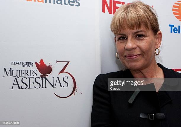 Leticia Perdigon poses during the presentation of a chapter of the Mujeres Asesinas 3 on August 16, 2010 in Mexico City, Mexico.
