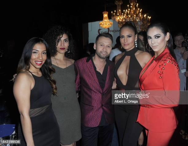 Leticia Perez Andrea Sixtos George Rojas Jes Meza and Jasmine Garcia attend the Amare Magazine's Winter Soiree 3rd Issue Launch held at EnVy Lounge...