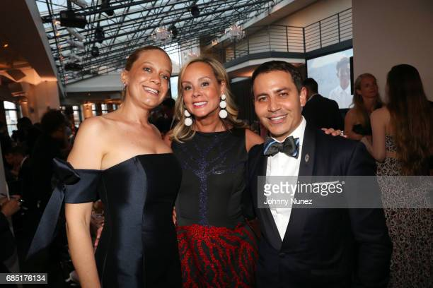 Leticia Presutti Yaz Hernández and Gabriel RiveraBarraza attend the Glasswing International 10th Anniversary Gala at Tribeca Rooftop on May 18 2017...