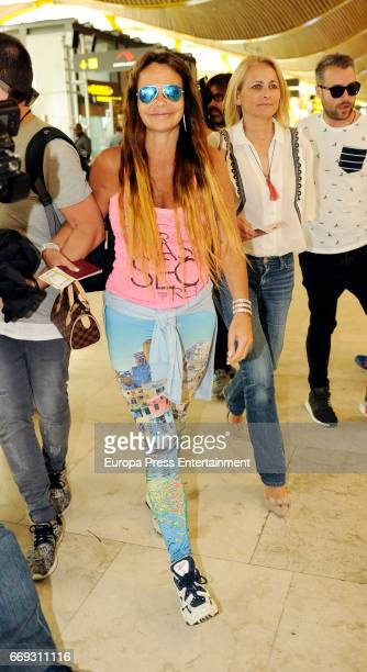 Leticia Sabater and Lucia Pariente are seen travelling to Honduras to take part at 'Supervivientes' tv contest on April 14 2017 in Madrid Spain