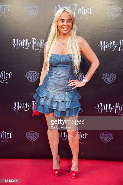 Leticia Sabater attends 'Harry Potter and The Deathly Hallows Part 2' premiere at the Callao cinema on July 7 2011 in Madrid Spain
