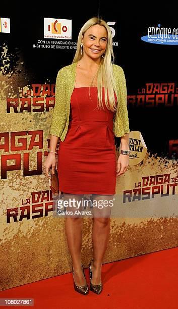 Leticia Sabater attends La Daga de Rasputin premiere at the Capitol cinema on January 13 2011 in Madrid Spain