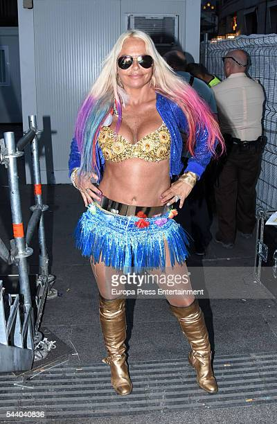 Leticia Sabater performs in concert during Madrid Gay Pride on June 30 2016 in Madrid Spain