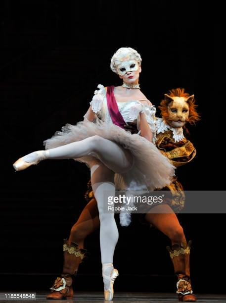 Leticia Stock and Paul Kay as Cats in The Royal Ballet's production of Marius Petipa's The Sleeping Beauty at The Royal Opera House on November 4,...