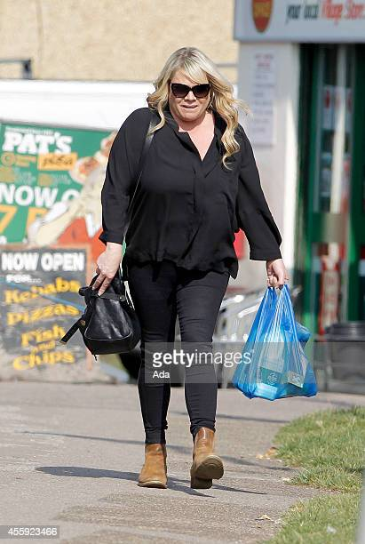 Letitia Dean is seen out shopping after filming scenes for Eastenders on September 22 2014 in London England